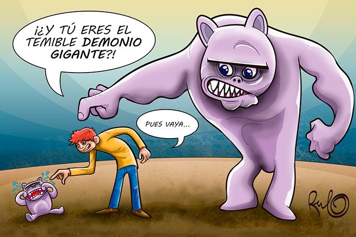 Ilustración viñeta EL TEMIBLE DEMONIO GIGANTE
