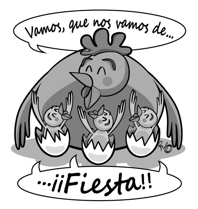 Ilustración blanco y negro FIESTAS MALPARTIDA 2016