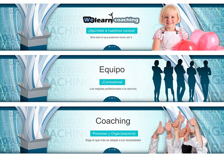 Diseño y creación de web Slider WE LEARN COACHING