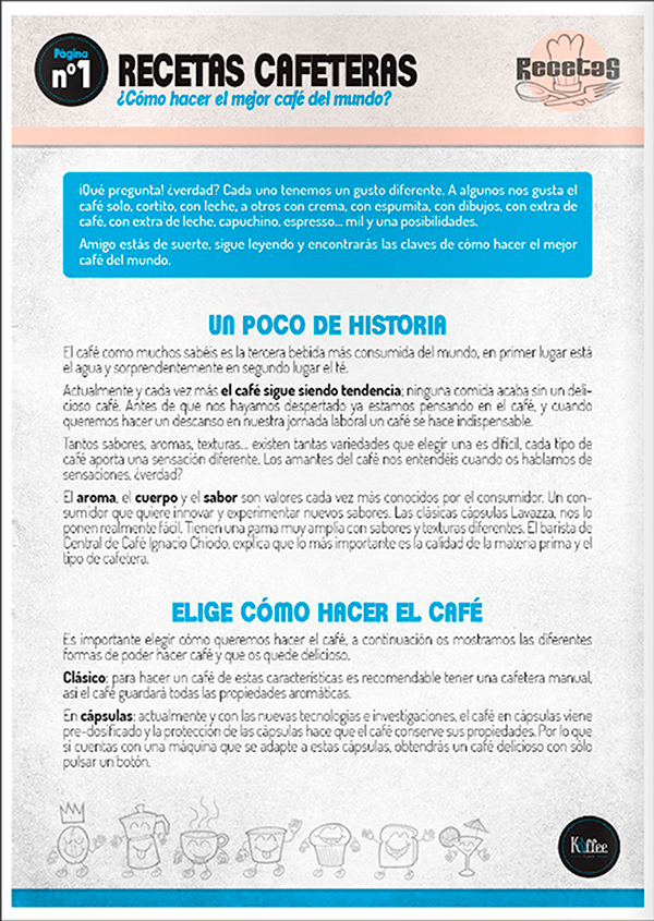 Diseño y maquetación REVISTA KOFFEE n1 pag2