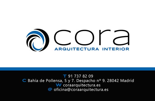 Diseño tarjeta de visita CORA ARQUITECTURA 1