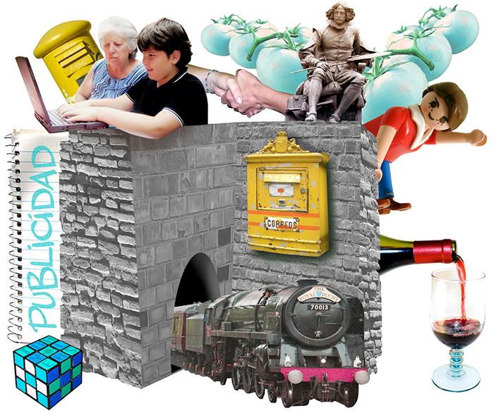 Diseño Gráfico Collage para slider web TRAYLERS 2 PUBLICIDAD