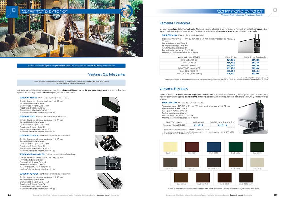 Diseño y maquetación CATALOGO PRODUCTOS Y SERVICIOS CORA ARQUITECTURA 2017 pliego 13