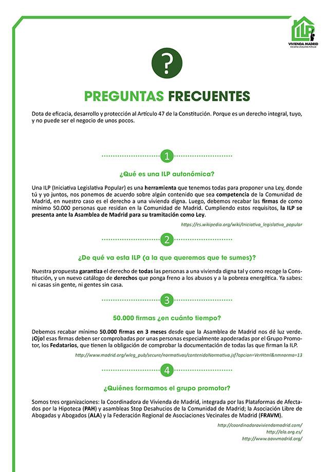 Diseño y maquetación ILP LEY URGENTE DEL DERECHO A LA VIVIENDA EN LA COMUNIDAD DE MADRID Faqs 1