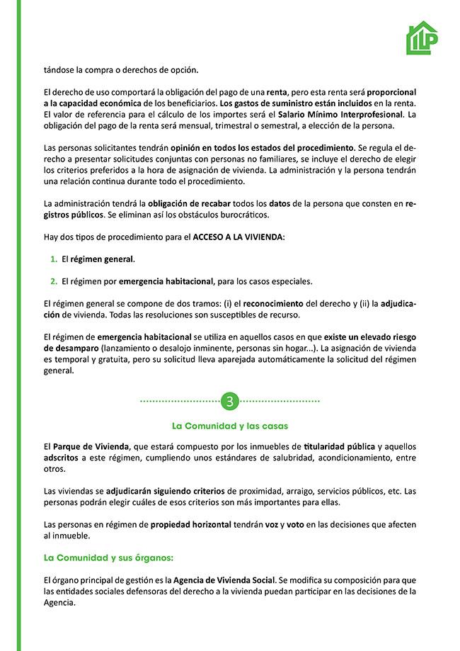 Diseño y maquetación ILP LEY URGENTE DEL DERECHO A LA VIVIENDA EN LA COMUNIDAD DE MADRID Resumen 2