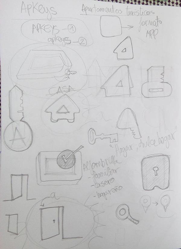 Bocetos diseño Logo APKEYS 00