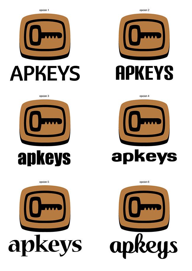 Bocetos diseño Logo APKEYS 2