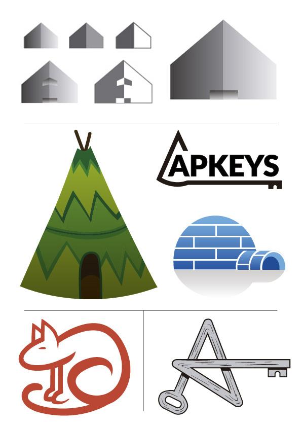 Bocetos diseño Logo APKEYS 02