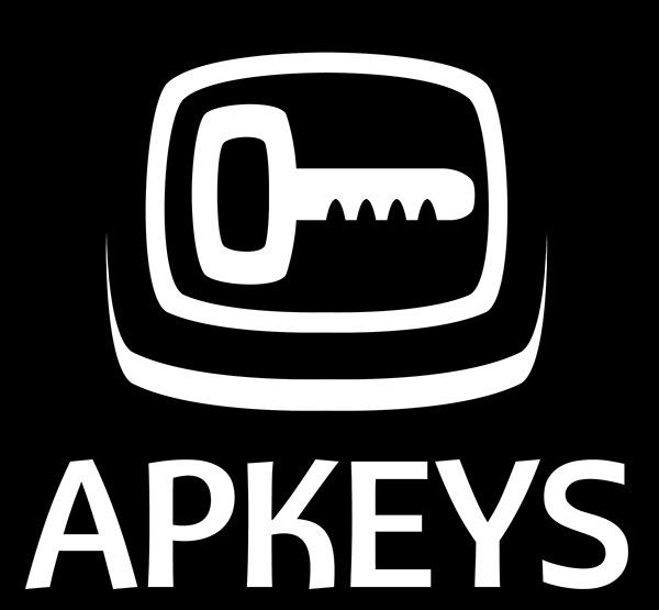 Diseño de logotipo negativo APKEYS