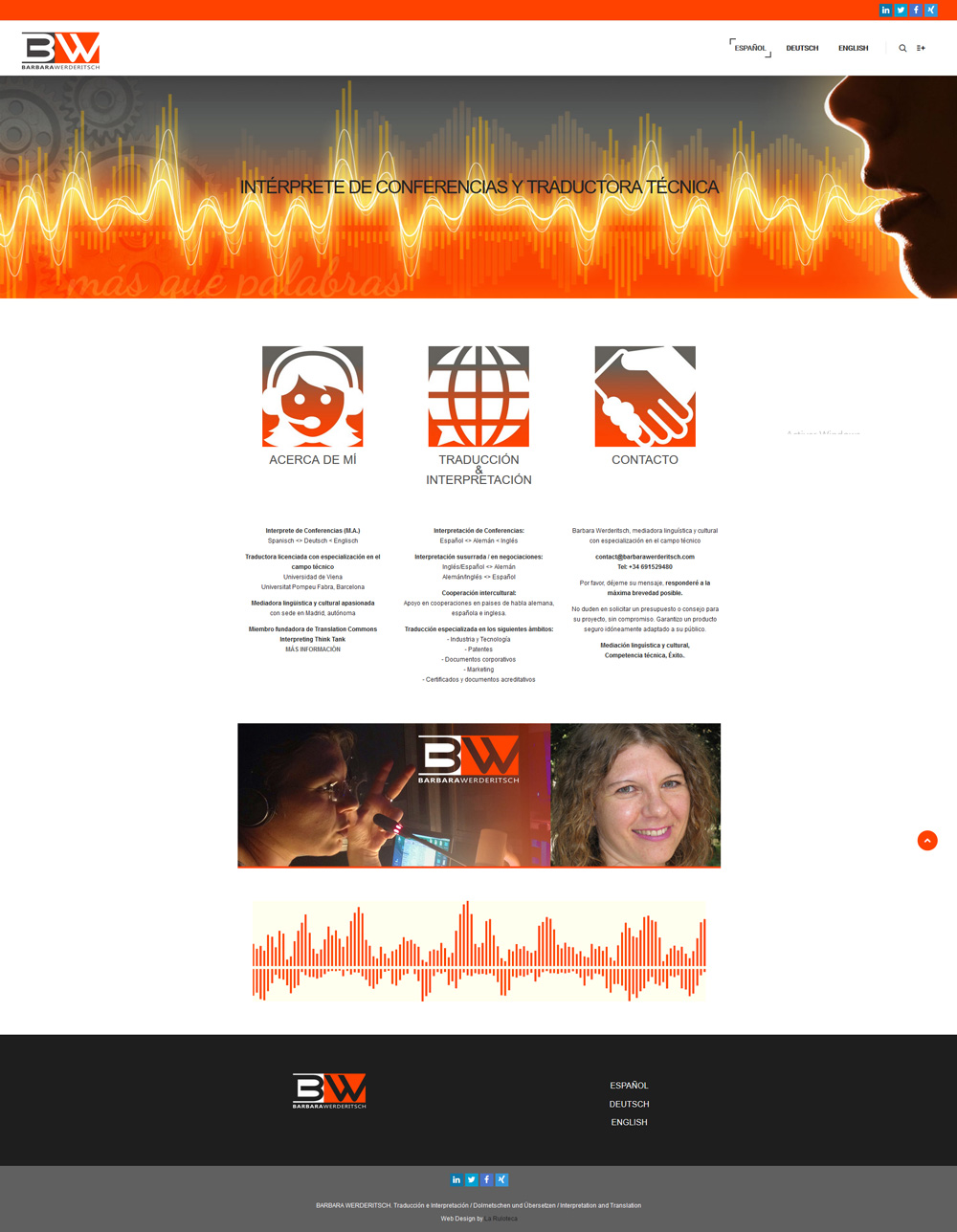 Diseño y desarrollo web BARBARA WERDERITSCH Home español
