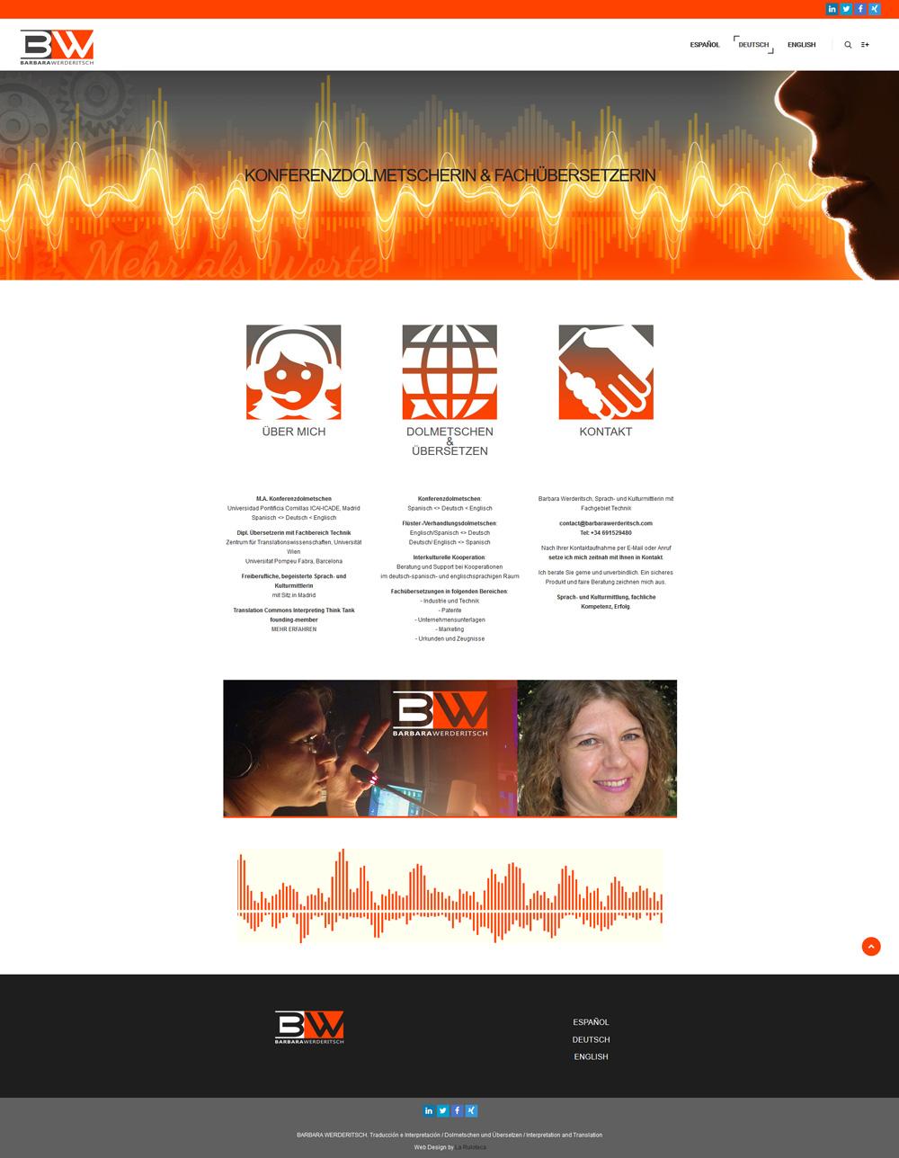 Diseño y desarrollo web BARBARA WERDERITSCH Home alemán