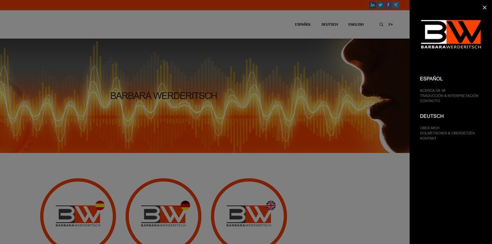 Diseño y desarrollo web BARBARA WERDERITSCH Menu