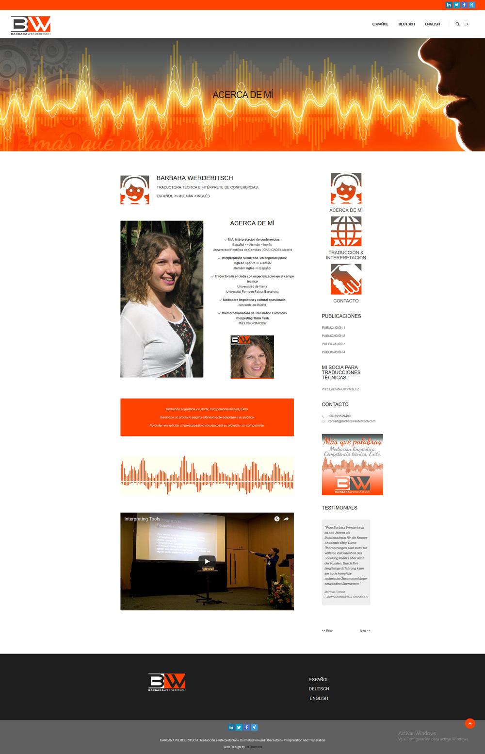 Diseño y desarrollo web BARBARA WERDERITSCH Acerca de mi