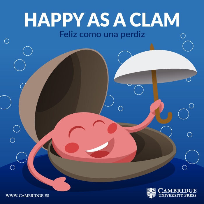 Visual redes sociales HAPPY AS A CLAM Cambridge University Press