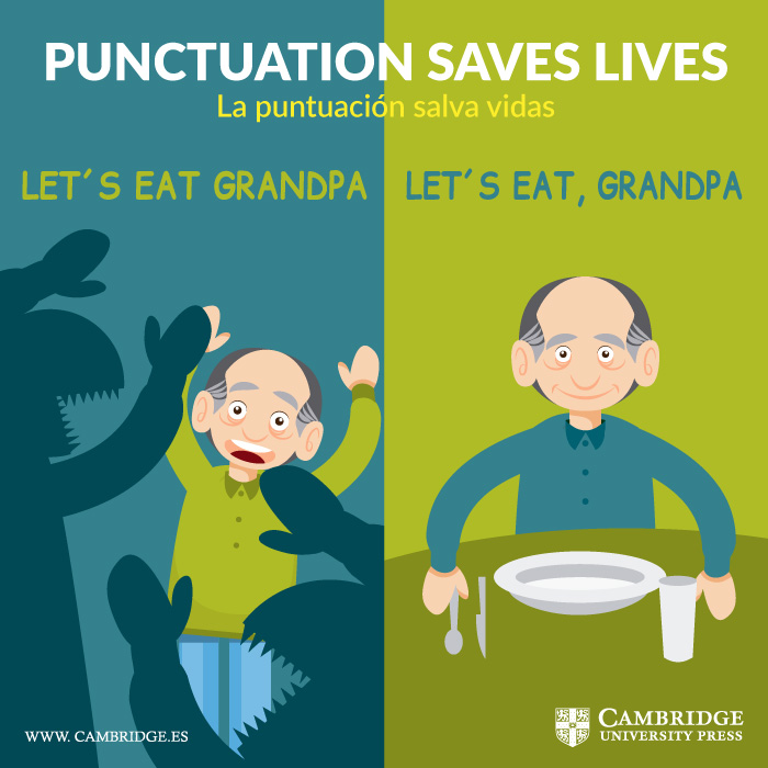 Visual redes sociales PUNCTUATION SAVES LIVES Cambridge University Press