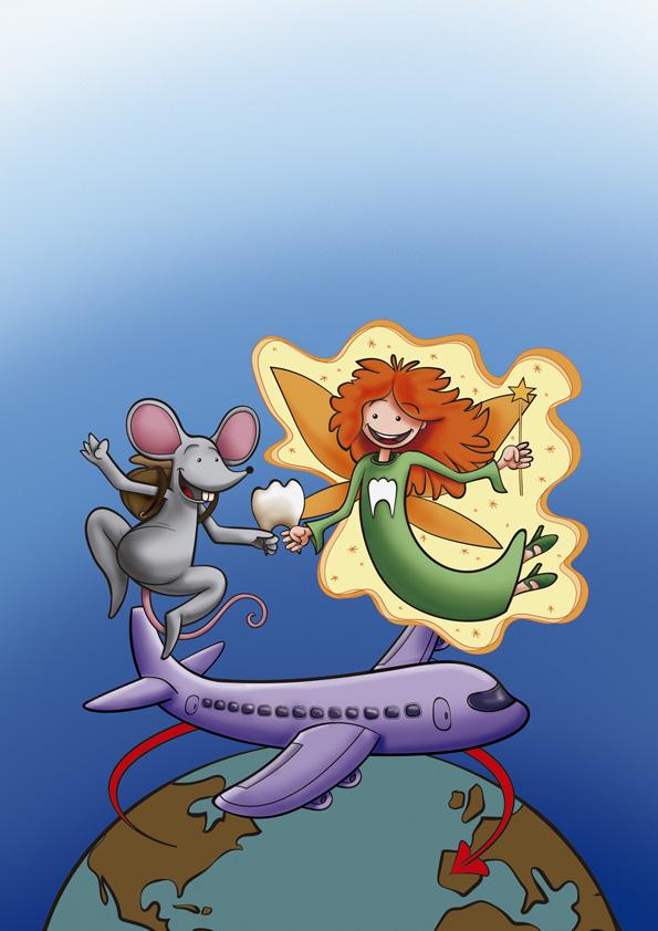 Ilustración evolución dibujo portada cuento infantil