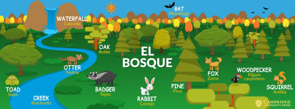 Ilustración vectorial El Bosque