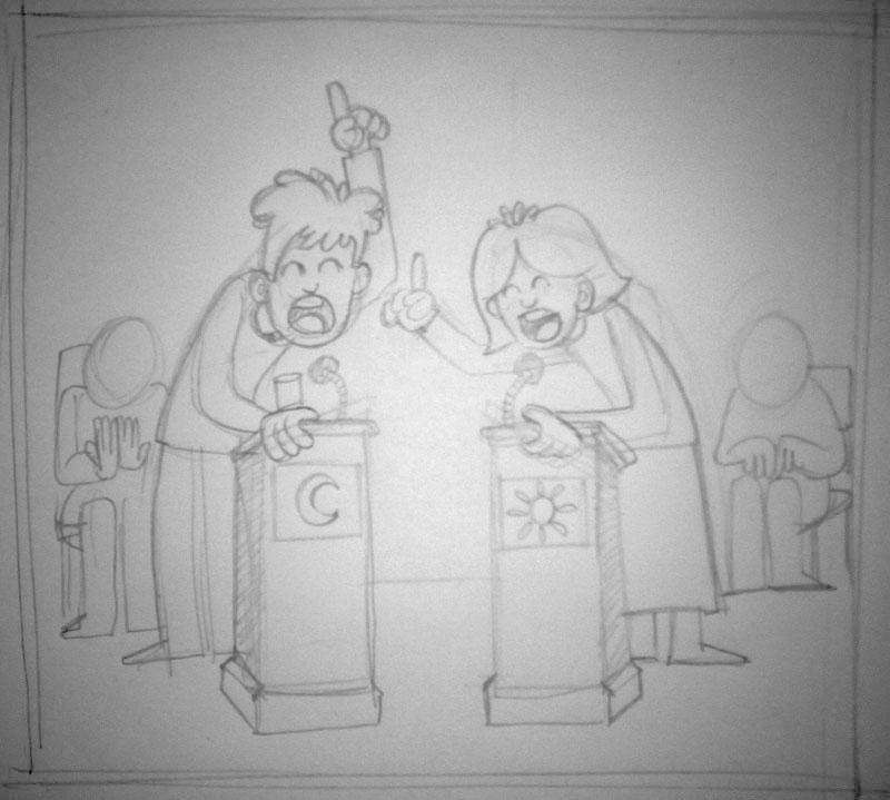 Boceto Ilustración blog Debates