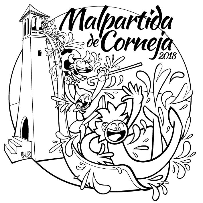 Ilustracion Fiestas de pueblo Malpartida de Corneja 2018
