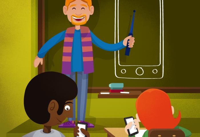 Ilustración blog Tecnologías en el aula