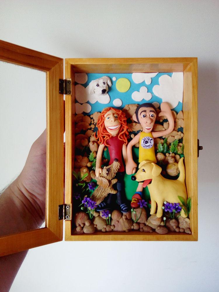 Retrato en plastilina TERE, MARIANO, PEPE, JACK y RIMBO en LA PEDRIZA 5