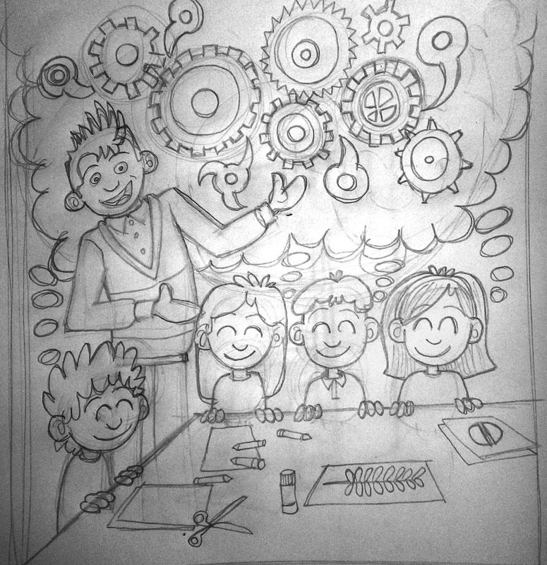 boceto Ilustración blog Profesores motivadores