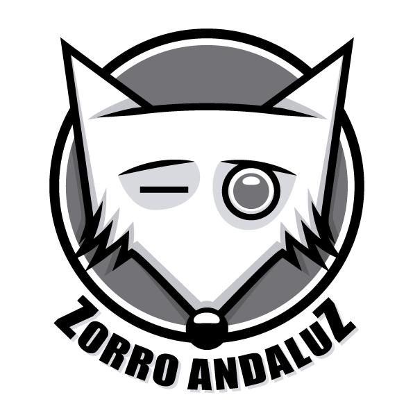 Diseño de logotipo Zorro Andaluz escala de grises