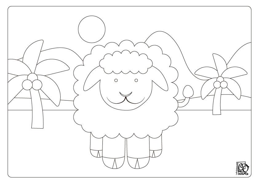Dibujo para colorear OVEJA Ilustración de Rulo para La Ruloteca
