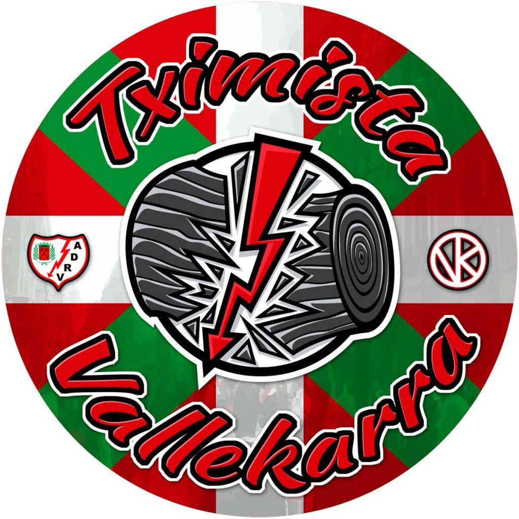 Diseño pegatina Tximista Vallekarra (Peña Euskadi Rayo Vallecano)