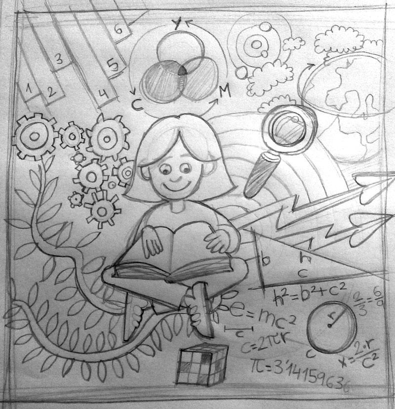 Boceto Ilustración blog Funciones ejecutivas