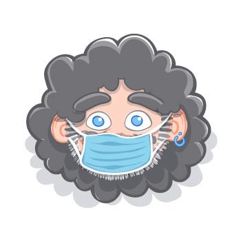 Ilustración caricatura AVATAR RULO 3 edición coronavirus