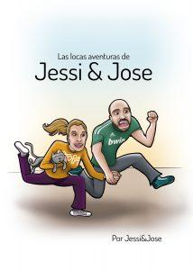 Ilustración y diseño gráfico de cómic para invitación de boda JESSI y JOSE 1