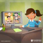Ilustración para blog SALUD MENTAL Y TELETRABAJO
