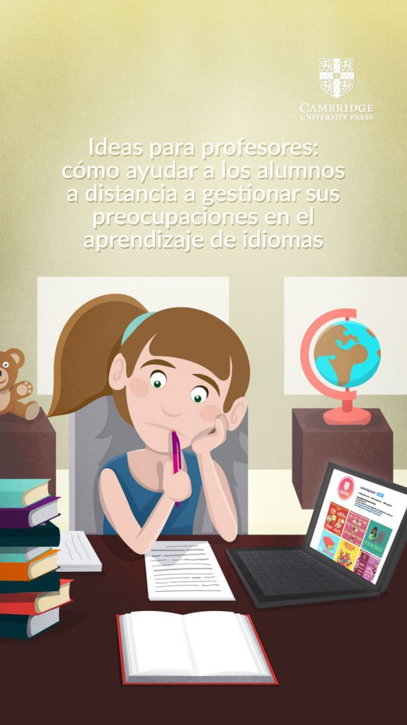 Adaptación para Instagram Stories de ilustración blog ALUMNOS A DISTANCIA