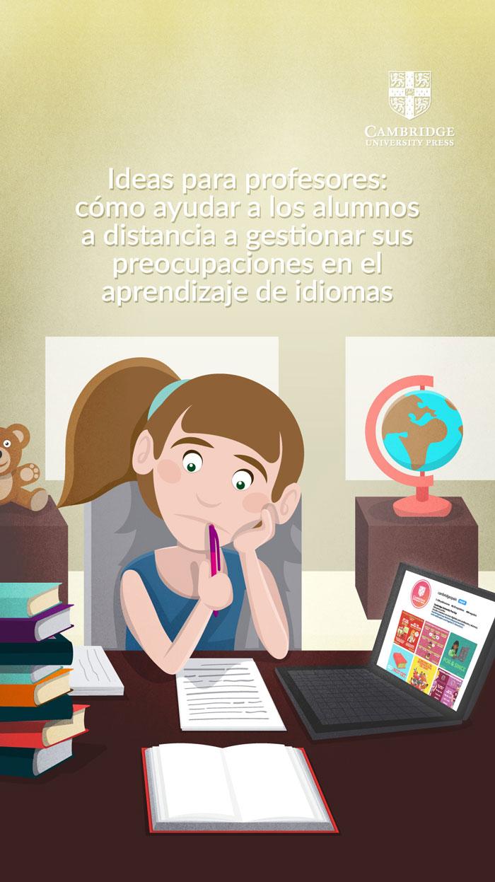Adaptación para Instagram Stories de ilustración blog ALUMNOS A DISTANCIA