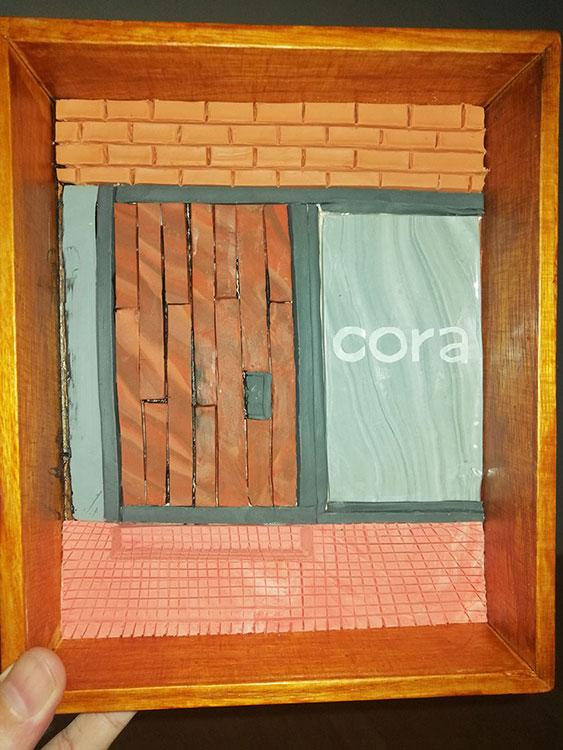 Fotos de proceso del retrato en plastilina VERO LLEGANDO a CORA 7