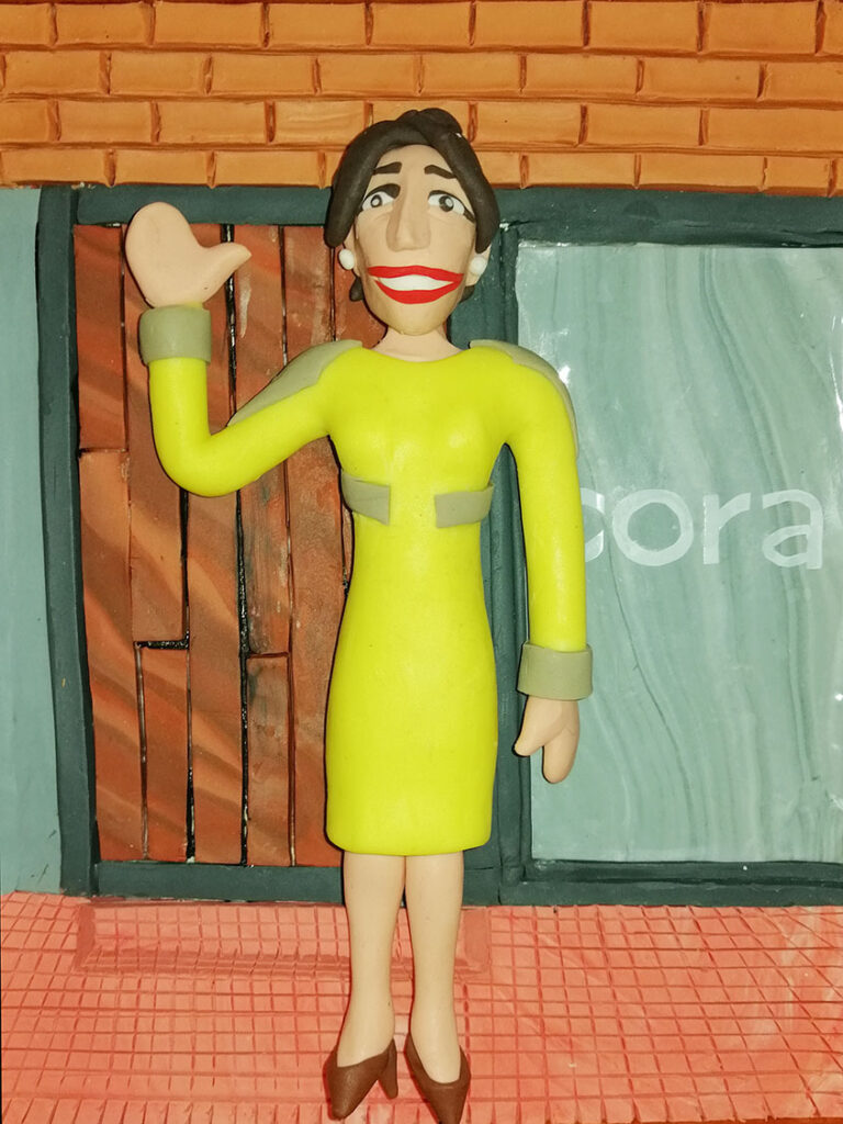 Retrato en plastilina VERO LLEGANDO a CORA 3